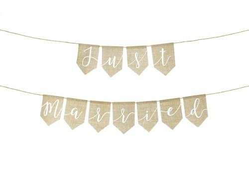 Jute banner just married